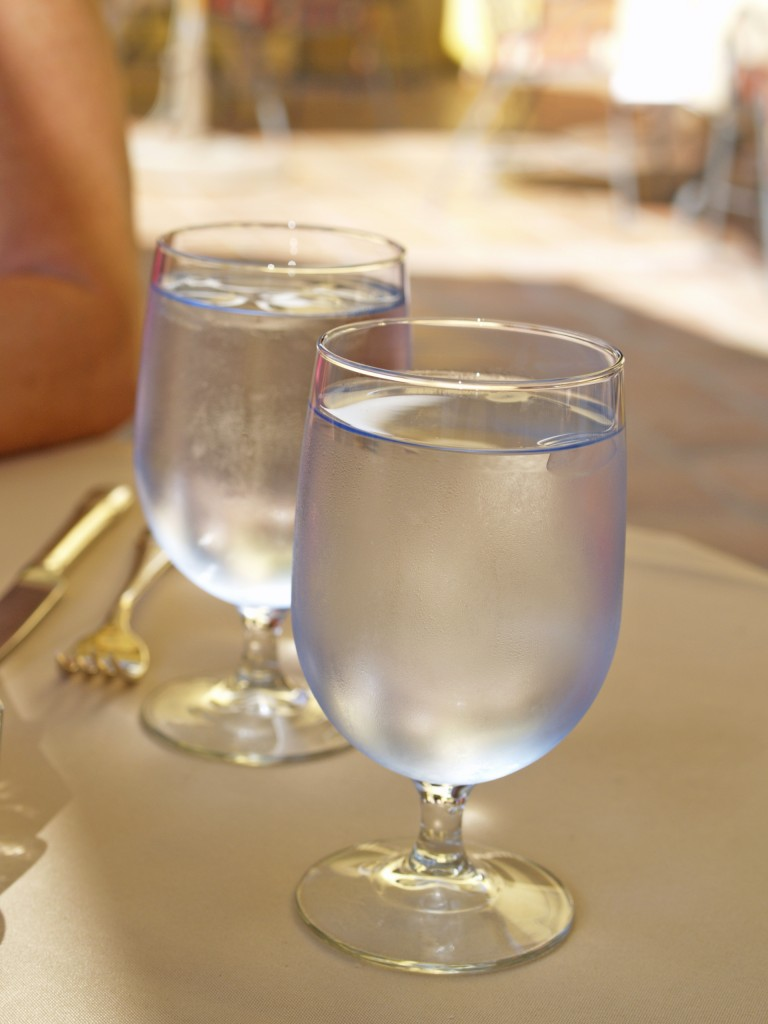 Trinkwasser Wasserglas